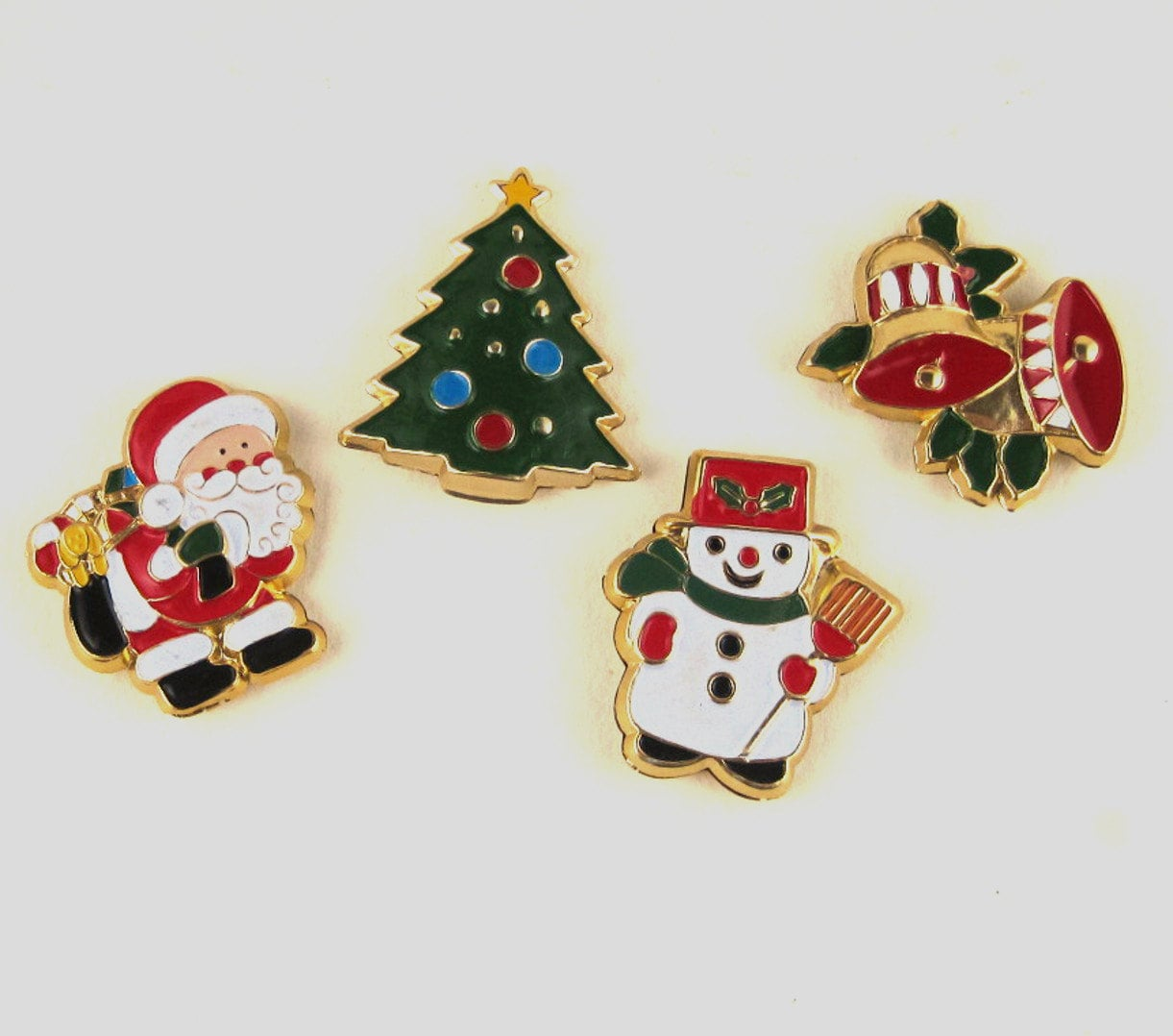 Vintage christmas magnets by