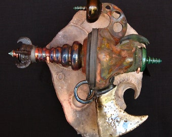 Asimov Disinto - Raku Ray Gun Ceramic Sculpture