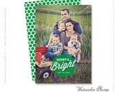 """christmas photo card - """"Watercolor Stamp"""""""