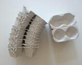 30 Egg Cartons -all white (2 holding type)