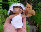 Hawaiian Ooak Art Doll: Poli'ahu, Hawaiian Snow Goddess