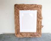 Reclaimed Farm Wood Artwork or Photo Frame 11x14 for 8x10 photo