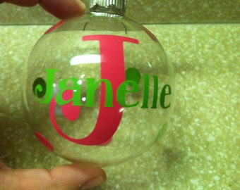 Handmade Monogram Name Ornament (Personalize with ANY name)