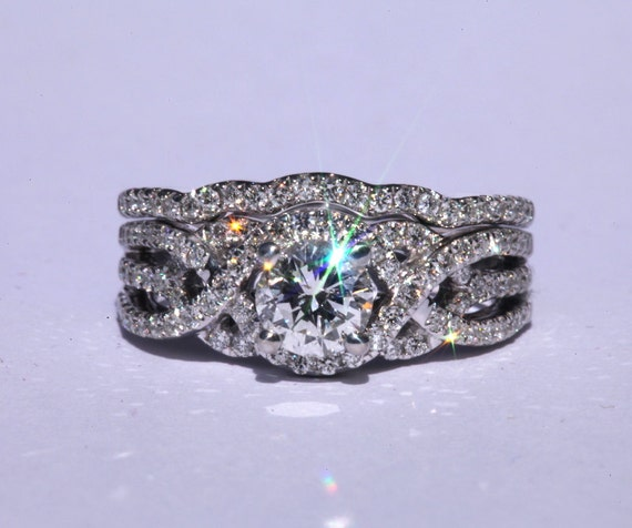 Matching wedding band for Twist Of Fate engagement ring Flower ring ...