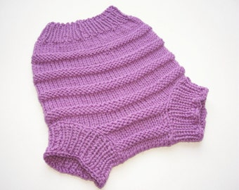 Hand Knitted Wool Diaper Cover Knit Cloth Diaper Wool Diaper Soake Wool Nappy Cover Baby Wool Cover size Large