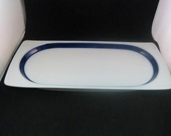 """German Thomas Rectangular Serving Platter Brushed Cobalt Blue 14"""""""