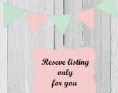 Reserve listing for Jullianne