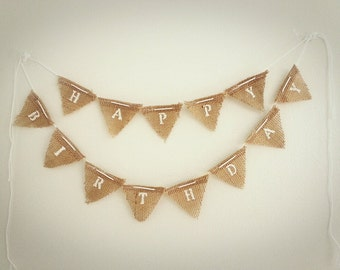 happy birthday cake bunting