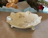 Vintage ROSENTHAL Moliere Porcelain Candy Dish Ivory with Gold Trim CIRCA 1955