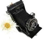 Black German Camera AGC Folding Bellow Camera Pronto Shutter Camera by Alfred Gantheir Calmbach Vintage Foldup Black Bellows Photo Camera