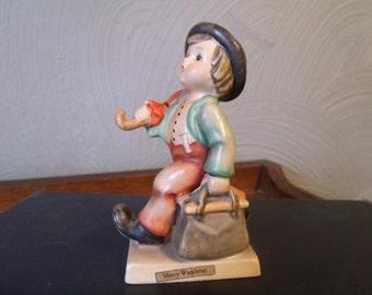 Vtg Hummel Figurine, Merry Wanderer, W Germany, Bee,TMK-3, 1960s