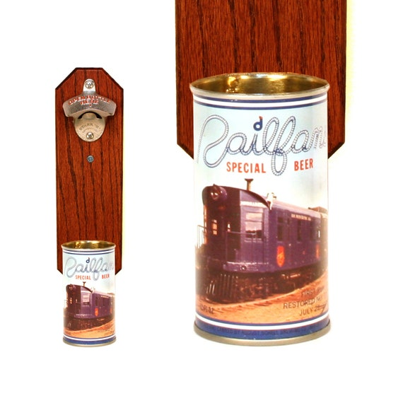 Railfan Wall Mounted Bottle Opener With Vintage By Handysam