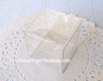 "Clear Boxes {10} - Mini Candy Cubes - 1.5x1.5x1.5 Clear Boxes, 1-1/2"" x 1-1/2"" - Chocolate, Food, Treats, Confection"
