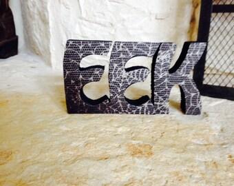 HAlloween wooden letters EEK, table, mantle, desk decoration, halloween decor