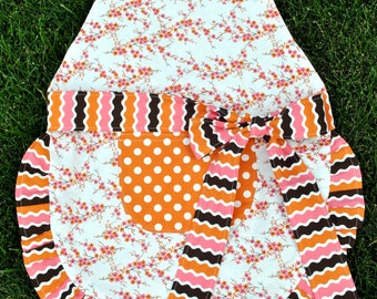 Girls Ruffle Apron - Child Apron - Play Kitchen