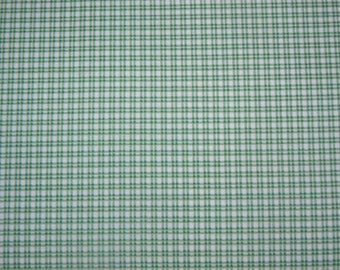 Michael Miller Green Crib Check Cotton Fabric - 1 Yard