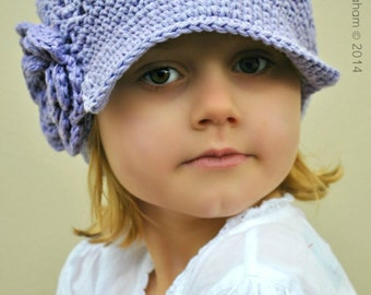 Newsboy Hat Pattern in 7 Sizes No.408 Digital ePattern for Baby Toddler Kid Teen