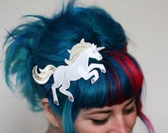 SALE - Unicorn Headband, Hair Band, Pink or White - Christmas In July CIJ