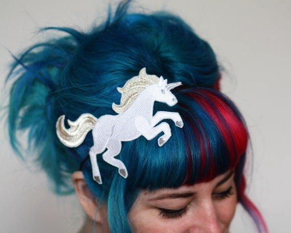 Unicorn Headband, Hair Band, Pink or White