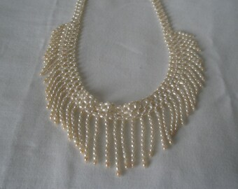 Vintage Fresh Water Pearl Woven Choker Necklace