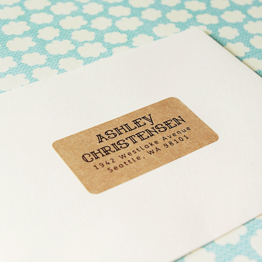 custom printed return address labels design 05 by packagery With custom printed address labels