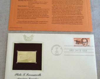 First Day Issue , Stamp , American Inventors , Gold Stamp , Commemorative Stamp , Postage Stamp , Collectible , Stamp Collecting , Stamps