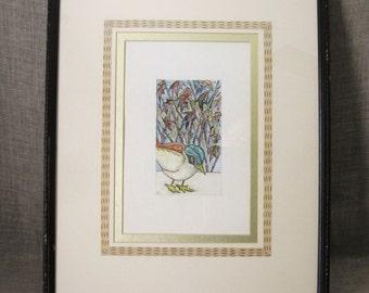 Watercolor Painting , Bird ,  Fine Art , Watercolor , Painting , Toy Bird , Bird , Original Painting , Water color , Wil Shepherd Studio