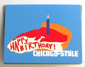 Chicago-Style Birthday Card