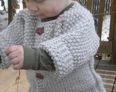 Instant download - Knitting Pattern - Baby Sweater Jacket - Knitting Pattern for Babies Multi sizes