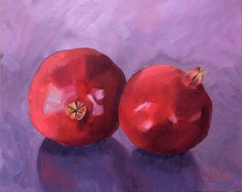 "Pomegranates 11"" x 14"" Original Oil Painting"