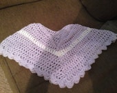 Baby, Infant, toddler girl poncho in a lavendar and white