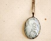 Manga / Anime Pendant Necklace - Inu Yasha - Glass Jewelry - Handmade Recycled