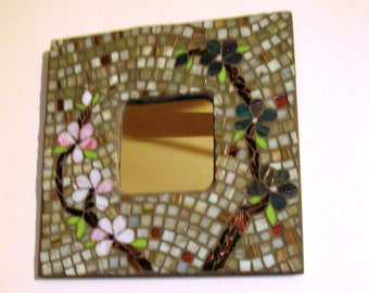 "10"" Mosaic Art Mirror"