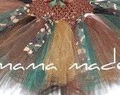 Camo Army Tutu Black, Brown Hunter green Gold Tutu with Camo Ribbon Tutu sizes newborn 3 mo 6 mo 9 mo 12 mo 18 mo 2t 3t 4t 5 6 8 10 12 14