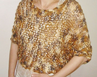 Knit Loose Sweater for Womens Gift in Earth tones colors womens hippie clothing