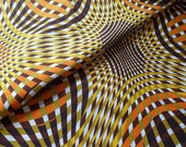 LAST PIECE 17 inches Dutch Design Cotton Voile Fabric Geometric Large Print Optical Illusion Contemporary African Yellow