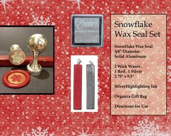 Snowflake Wax Seal Stamp Kit