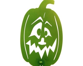 Hand Made Pumpkin Lime Tall Yard Art *NEW*