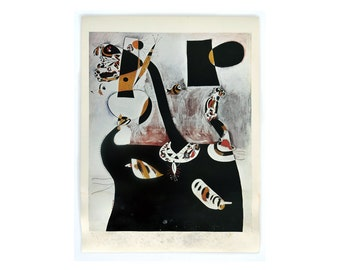 """Joan Miró """"Seated Woman II"""" poster, c.1970. Graphic design education by Reinhold Visuals"""
