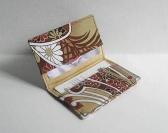 Business Card Holder. Credit Card Holder. Transit Card Holder. Bus Pass Holder. ID Card Holder - Earth Tones Asian Print