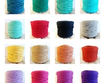 T-Shirt Yarn, Cotton T-Shirt Tricot, Fabric Jersey, Mix And Match - 3 pieces of 1 yard each