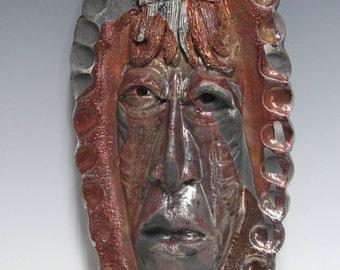 African Raku Mask number 10