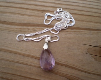 Purple Amethyst Pendant Necklace