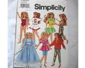 "Vintage 1991 Simplicity Pattern 7600 - Vintage10"" Skipper and Courtney Wardrobe"