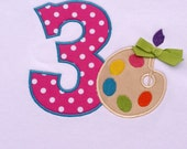Girls' Birthday Paint Pallet  T-Shirt or Bodysuit