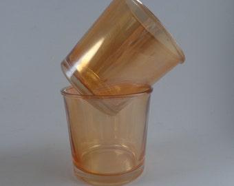 2 Lusterware Tumblers Glasses Glass Tumbler Anchor Hocking AH
