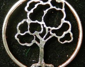 Tree Summer Hand Cut Coin Jewelry