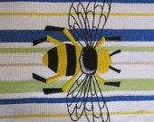 Whim - Vintage (Snorkel - Pear)  - Napleonic Bumble Bee - Cotton 20x30 Designer Kitchen Hand Towel