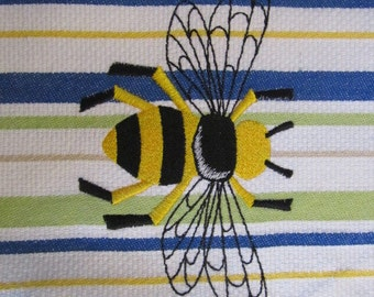 Whim - Vintage (Snorkel - Pear)  - Napleonic Bumble Bee - Cotton 20x30 Designer Kitchen Hand Towel