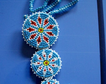 Native American seed bead necklace